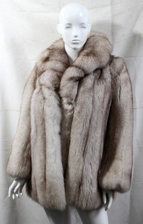 "FURS BY ARPIN FOX FUR COAT, 30"" FROM SHOULDER"