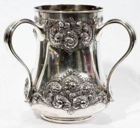 GORHAM STERL. CUP & NAMES OF DETROIT'S FAMILIE