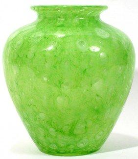 """STEUBEN CLUTHRA GLASS VASE, C. 1920, H 8"""""""