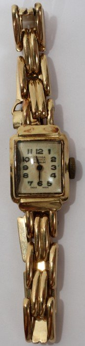 ORIOSA SWISS 14 KT. GOLD WRIST  WATCH