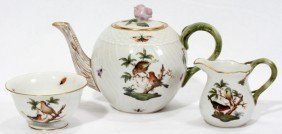 HEREND 'ROTHSCHILD BIRD' INDIVIDUAL TEA SET