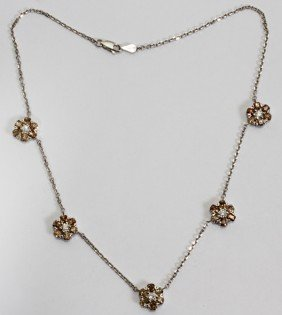 7CT COGNAC COLOR DIAMONDS & NECKLACE,