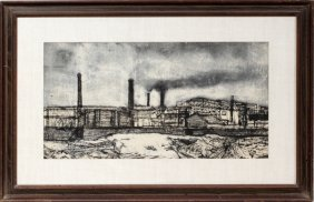 VESPIGNANI  RENZO INK DRAWING, C. 1950'S,
