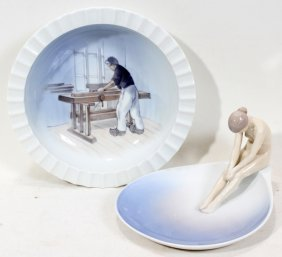 BING AND GRONDAHL PORCELAIN FIGURE 'MEDITATION