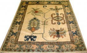 "SHIRAZ, WOOL PERSIAN RUG, C1970, 5' 2"" X 4' 9"""