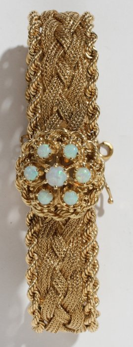 14KT YELLOW GOLD LADY'S BRACELET WATCH