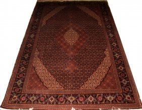 "TABRIZ PERSIAN WOOL CARPET, 9' 10"" X 6' 7"""