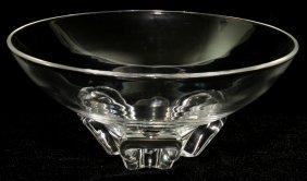 """STEUBEN GLASS FLORET BOWL, DIA 7 3/4"""""""
