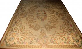 "HAND MADE CARPET, MID TO LATE 20TH C, 9'0"" X"