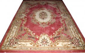 CHINESE HAND WOVEN CARPET, 8' X 11'