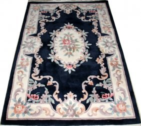 """CHINESE HAND WOVEN WOOL RUG, 6' 0"""" X 4' 0"""""""