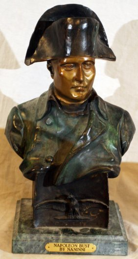 AFTER NANINNI, BRONZE BUST OF NAPOLEON