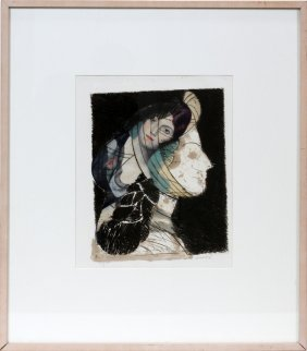"MANOLO VALDES, ETCHING, 15"" X 11.5"","