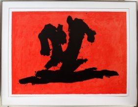 ROBERT MOTHERWELL [AMERICAN] COLOR LITHOGRAPH