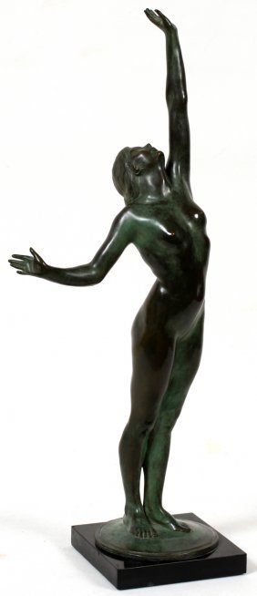 HARRIET WHITNEY FRISHMUTH, BRONZE SCULPTURE