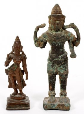 Southeast Asian Bronze Figures Two