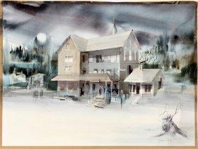 Doris White Watercolor & Pencil On Paper C.1965