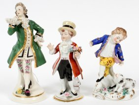 Dresden & German Porcelain Figurines 3 Pieces