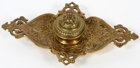 Indian Brass Inkwell