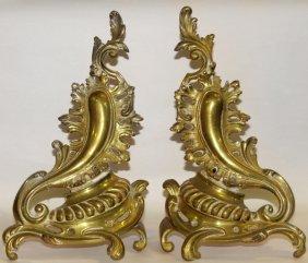 Bronze Chenets Pair