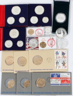 Currency: Silver Coins And First Day Covers, 14