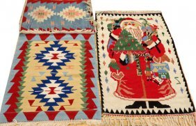 Turkish Hand Woven Wool Rugs 3 Pcs.