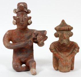 Pre-columbian Terracotta Figures Two