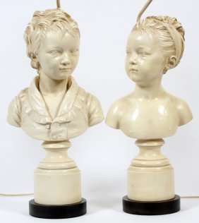 Composition Figure Of Boy And Girl Lamps