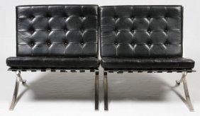 Knoll Barcelona Chairs, Pair