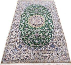 Nain Persian Wool & Silk Rug