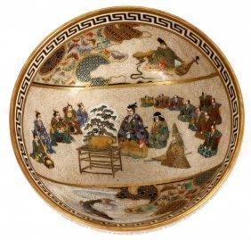 Japanese Satsuma Earthenware Bowl