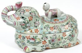 Chinese Porcelain Elephant Figural Tureen