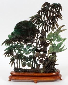 Serpentine Jade Bird Carving