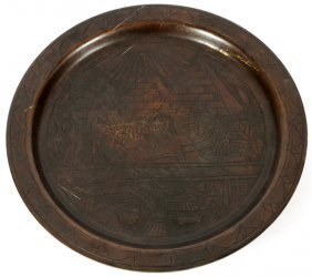 Egyptian Revival Style Bronze Calling Card Tray