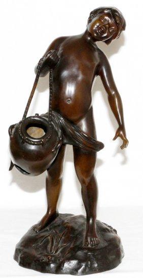 After A. Moreau Bronze Sculpture