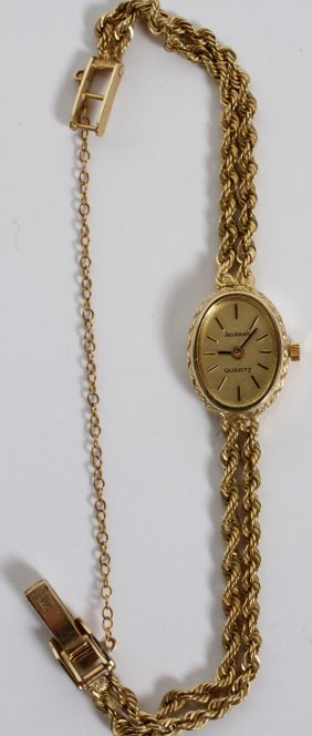 14kt Yellow Gold Lady's Quartz Wristwatch