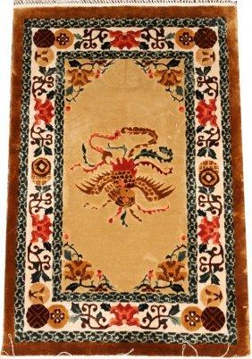 Chinese Hand-woven Silk Rug