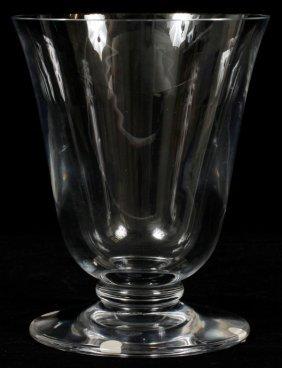 Baccarat Crystal Pedestal Vase