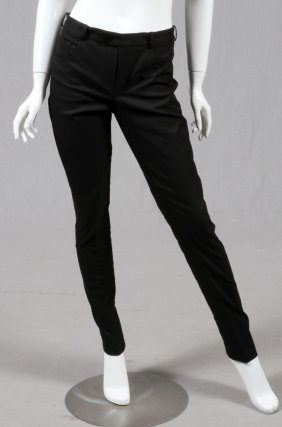 Chanel Cotton Blend Black Pants