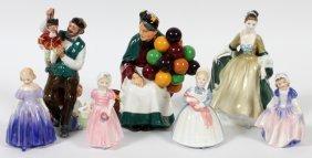 Royal Doulton Porcelain Figures, Seven