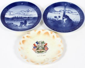 Royal Copenhagen Annual Plate 1968 & 1970 & Another