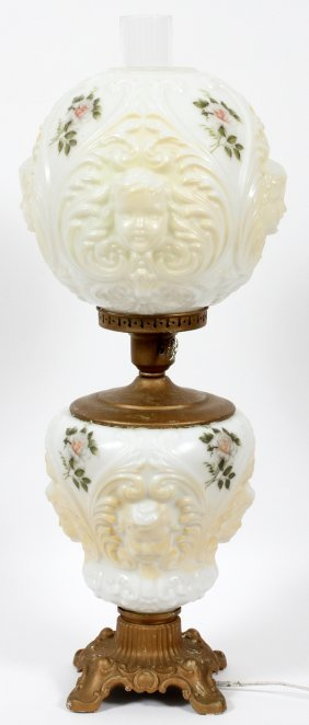 Glass Banquet Lamp 19th C.