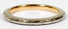 Yellow & White Gold Two-tone Lady's Wedding Band