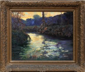 George Ames Aldrich Oil On Canvas