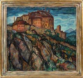 Arnold Aaron Friedman Oil On Canvas