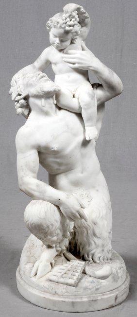 19th Century Italian Carrara Marble Sculpture, Pan