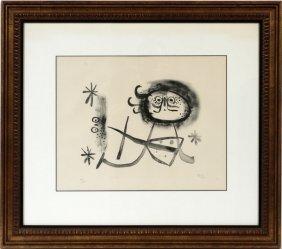 Joan Miro Lithograph 1948