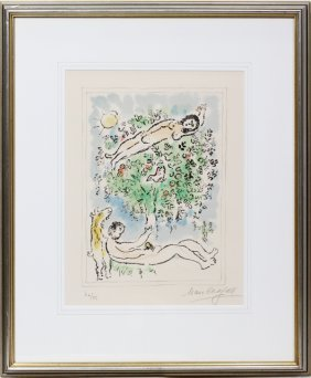 Marc Chagall Color Lithograph 1977