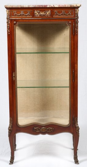 Attributed To Linke French Vitrine Mahogany