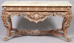 Italian Marble Top Console